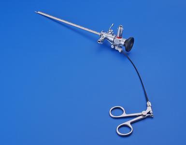 Rhinoscope Telescope, 30°, 2.7 mm, with examination sheath and biopsy forceps
